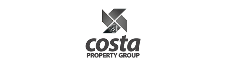 Costa Property Group logo in black and white