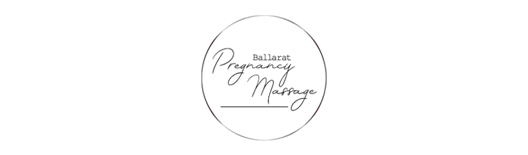 Ballarat Pregnancy Massage logo in black and white