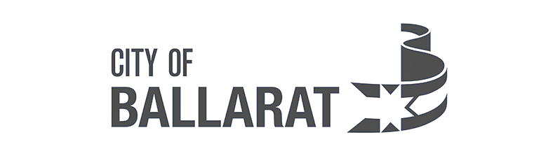 City of Ballarat logo in black and white