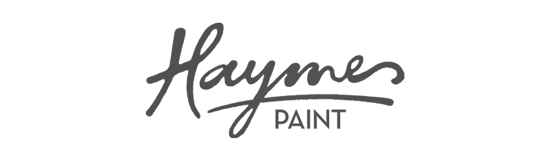 Haymes Paint logo in black and white