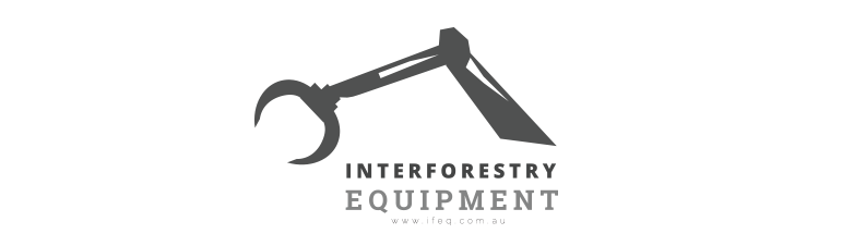 Interforestry Equipment logo in black and white