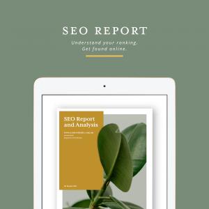 SEO Report cover