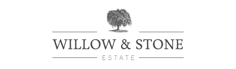 Willow and Stone Estate logo in black and white