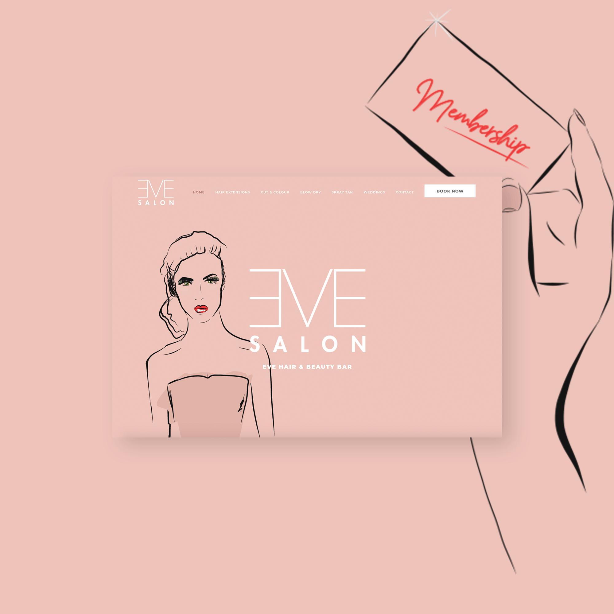 Eve Salon website design