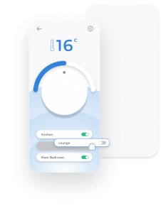 A graphic of home heating App UI design
