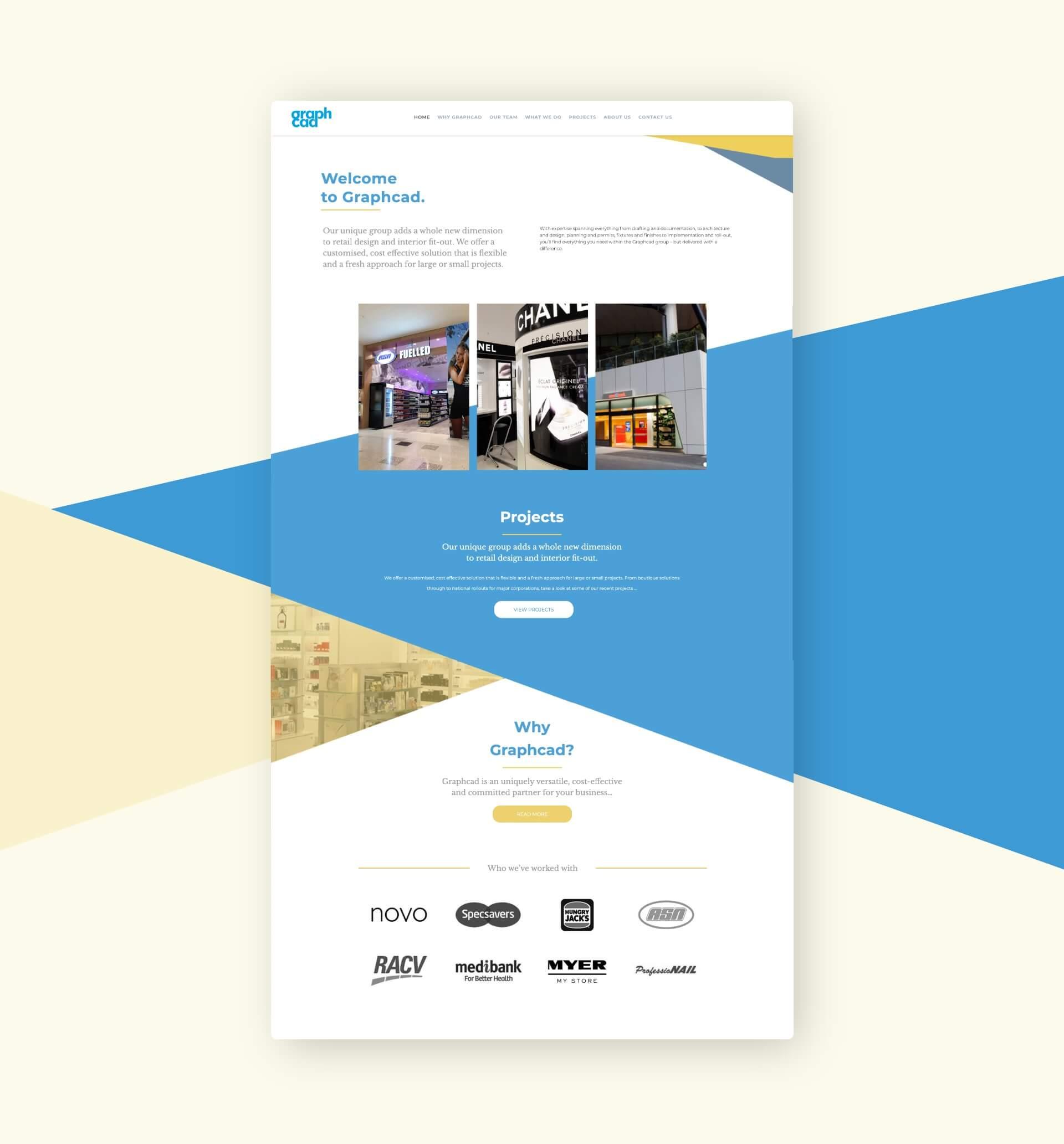 Graphcad homepage design