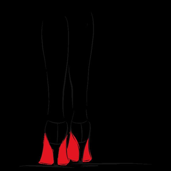 Custom illustration for eve salon, legs in red heels
