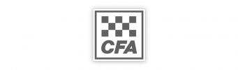 A greyscale image of the CFA logo